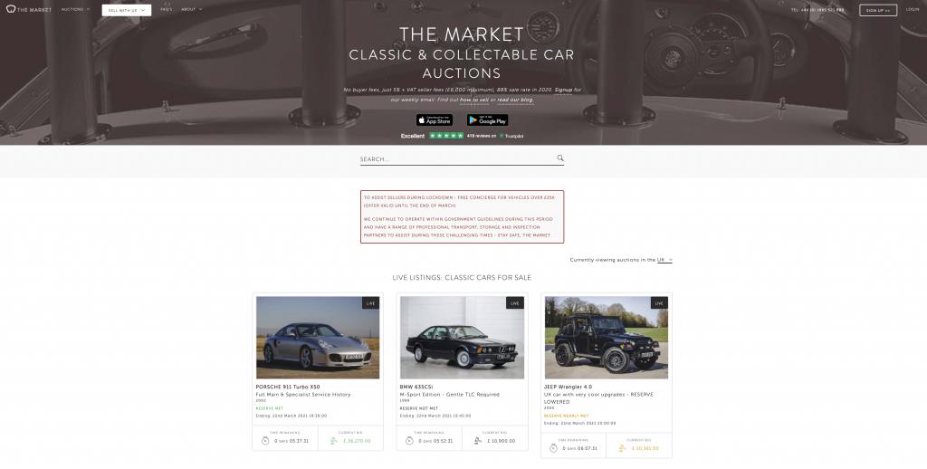 Online auction site The Market