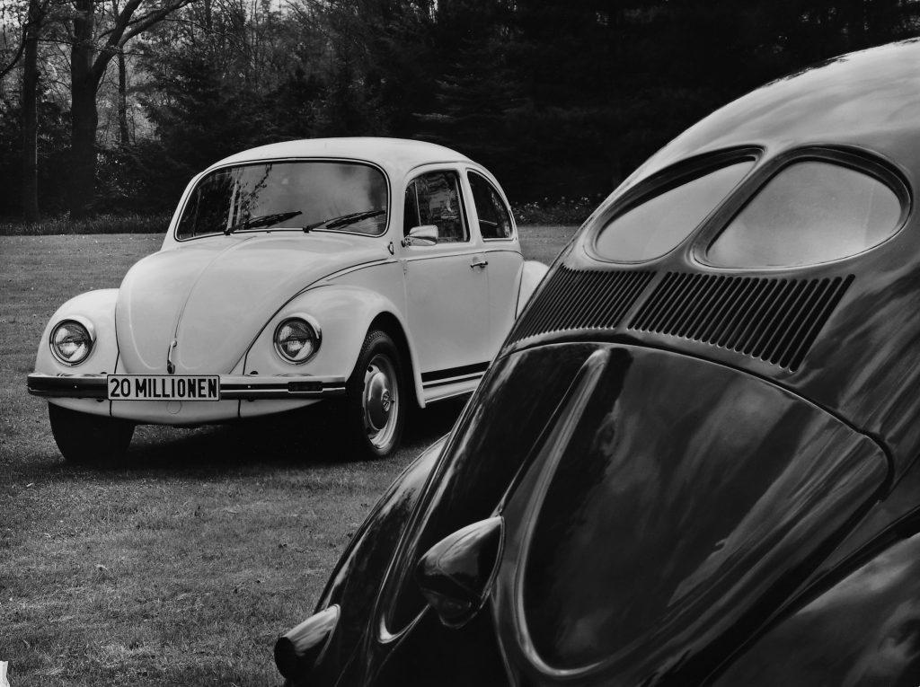 Split-window Volkswagen Beetle with Mexican Beetle