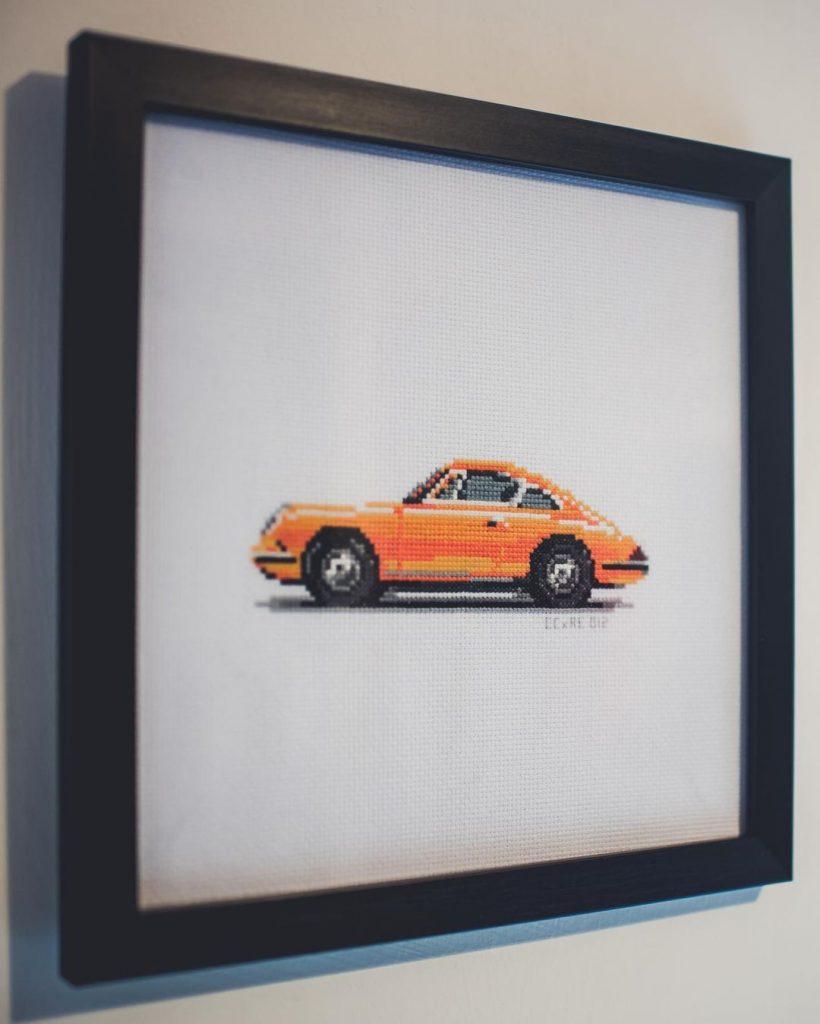 C for Cross Stitch car art