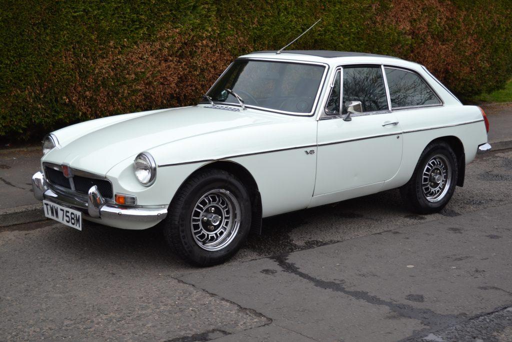 1974 MGB V8 auction sale