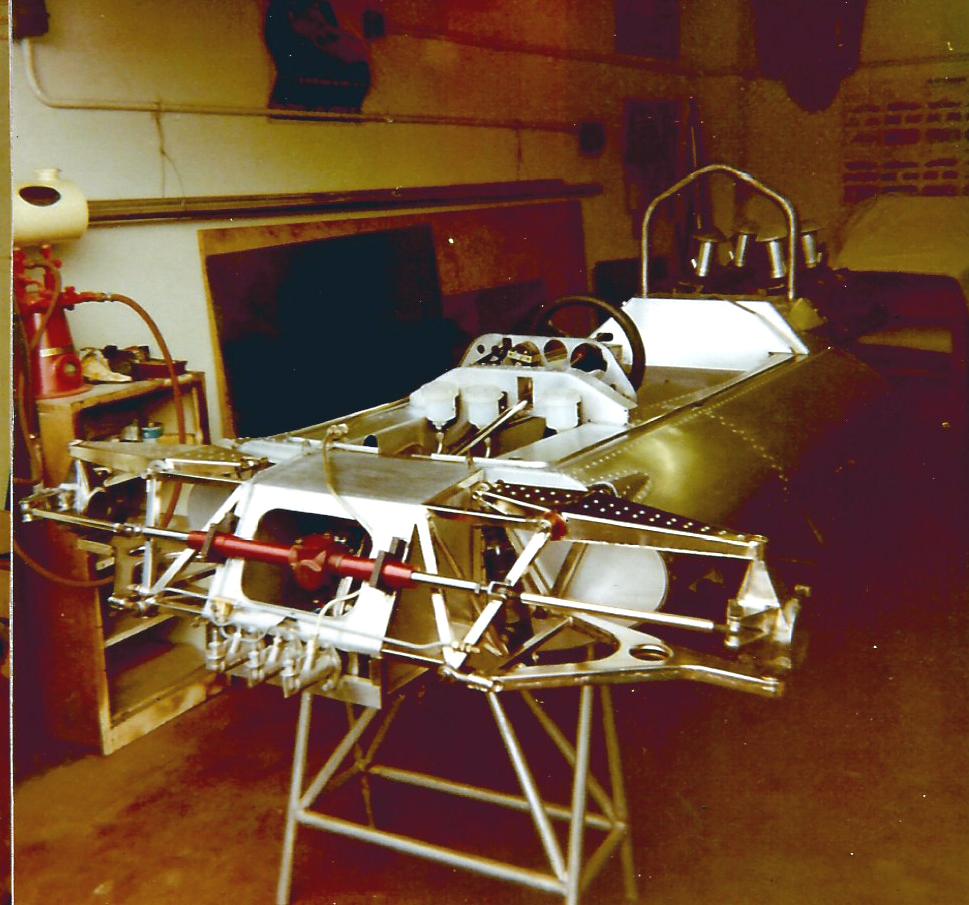 The aluminium monocoque of the Connew PC1 F1 car