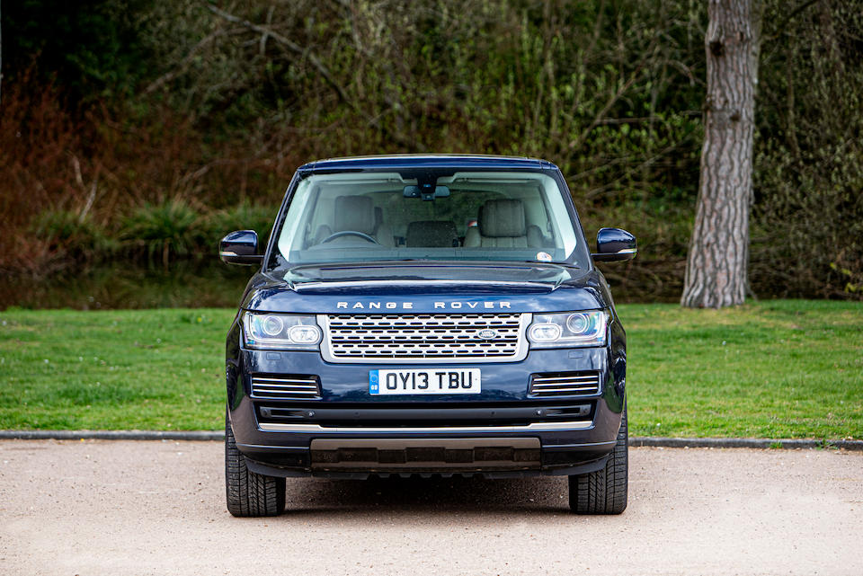 2013 Land Rover Range Rover Vogue SE auction Royal Family