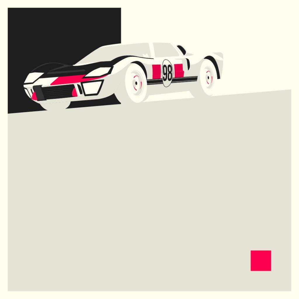 Jake Yorath Ford GT40 illustration