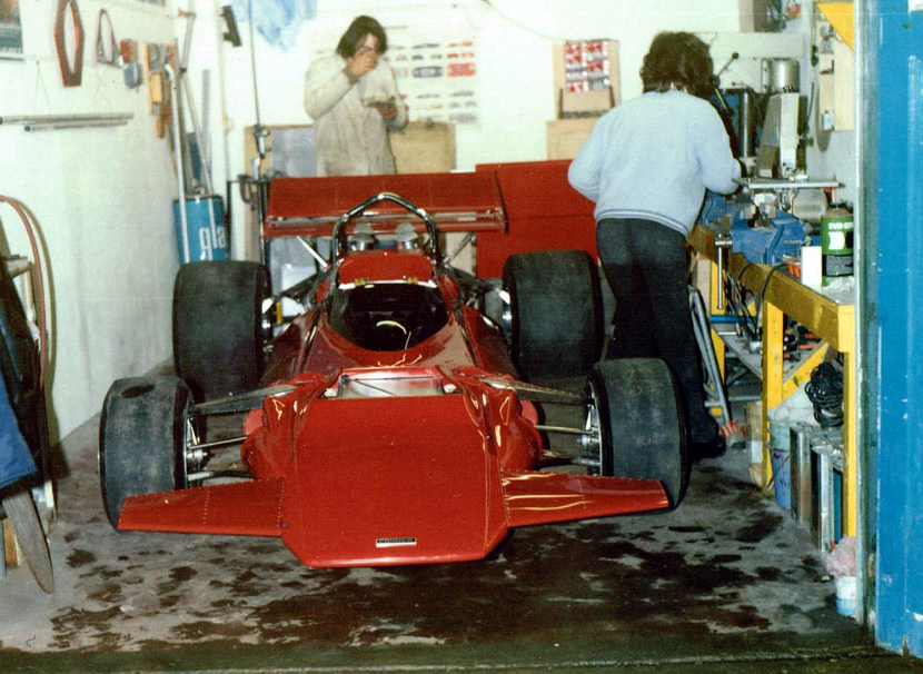 The Connew PC1 F1 car being built in East London