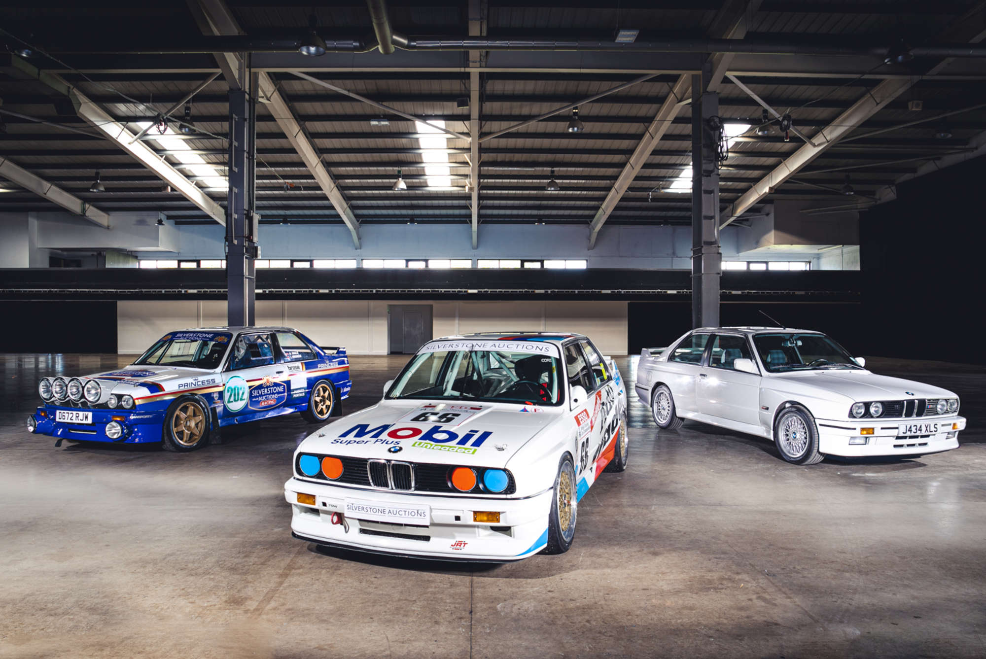 Race rally and road car versions of the BMW M3 E30