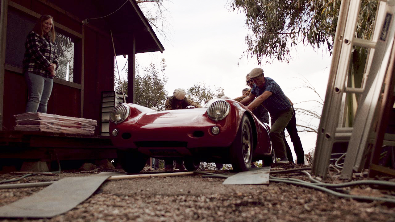Rare 1955 Porsche 550 Spyder uncovered in California shipping container
