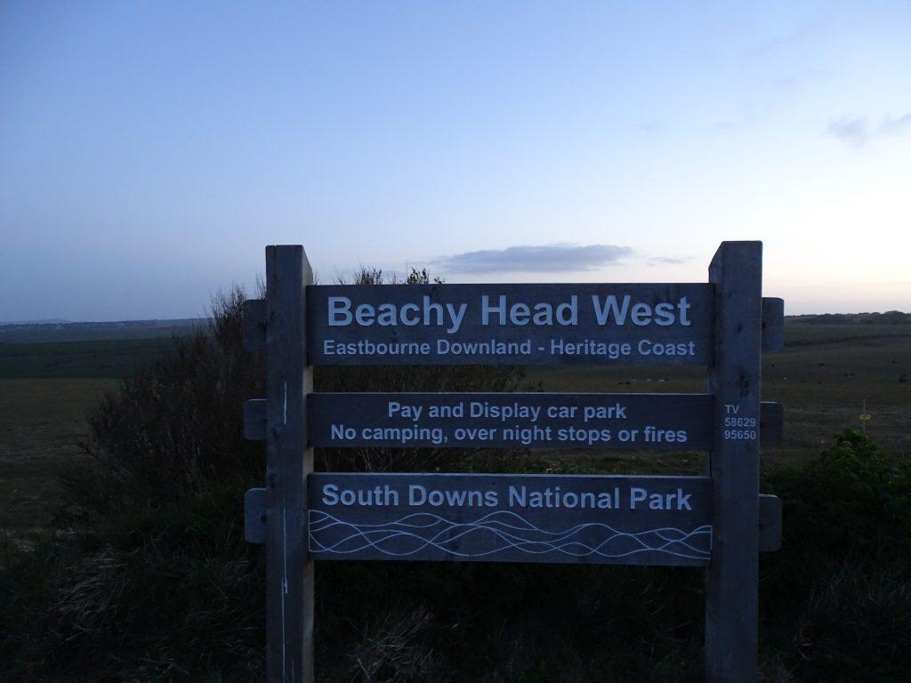 Beachy Head road sign
