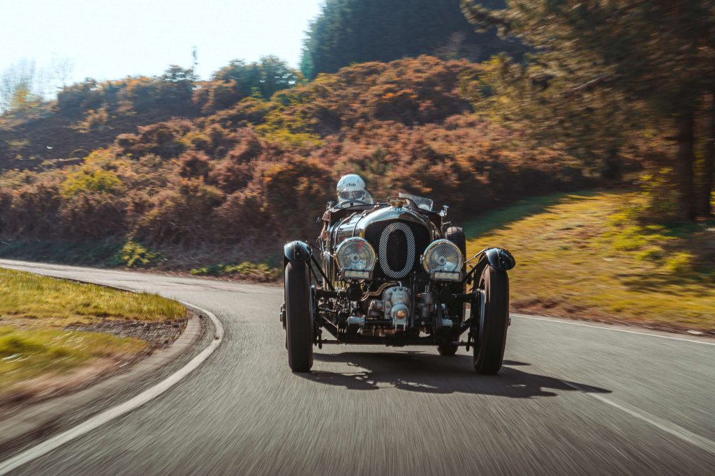 David Lillywhite driving the new Bentley Blower 4.5 litre continuation car