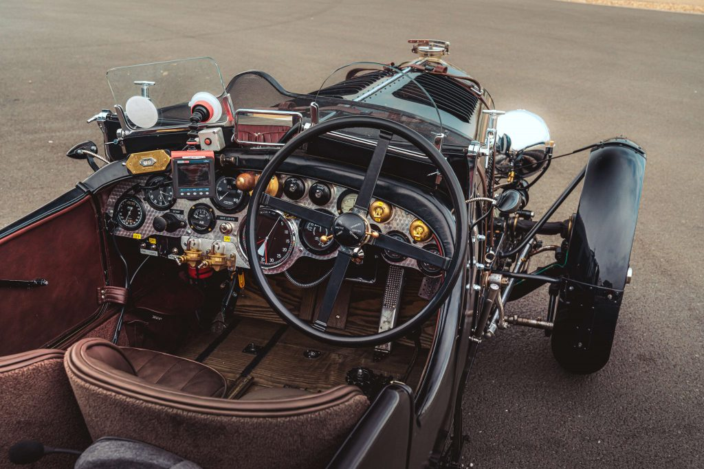 Cockpit of the new Bentley Blower 4.5 litre continuation car