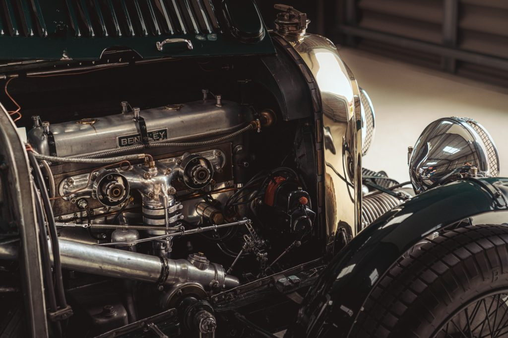 Engine of the Bentley Blower Continuation Series car