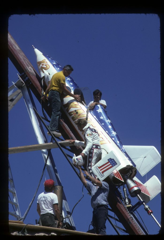 Evel Knievel and the Skycycle X-2
