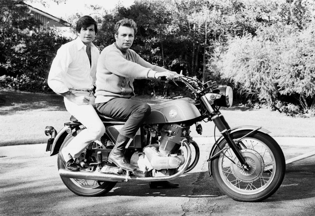 Evel Knievel and George Hamilton