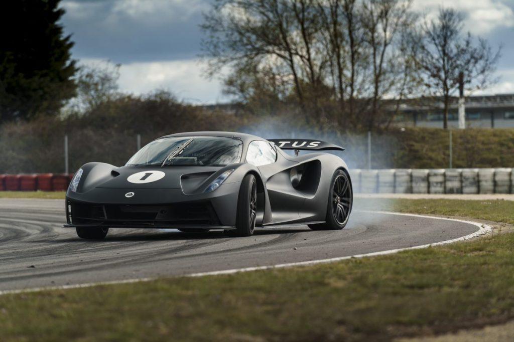 Lotus Evija driven on track