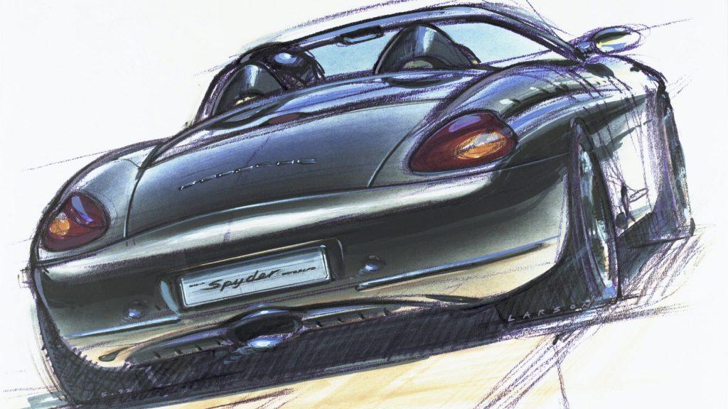 Porsche Boxster design sketch