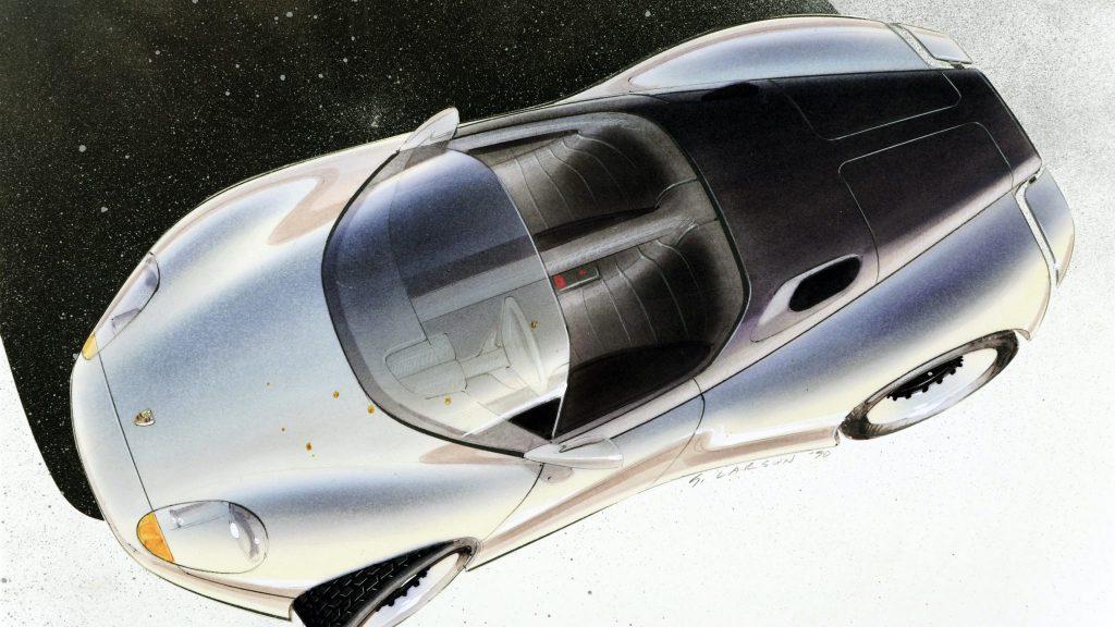1990 Porsche spyder sketch