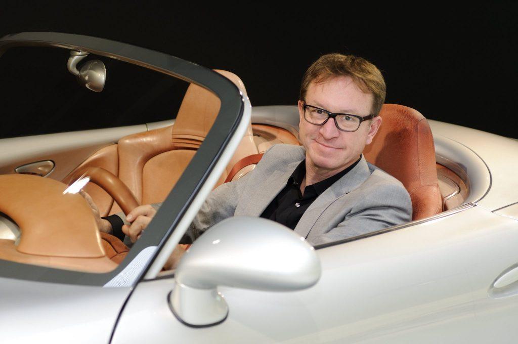 Grant Larson in the Boxster concept study, 2014