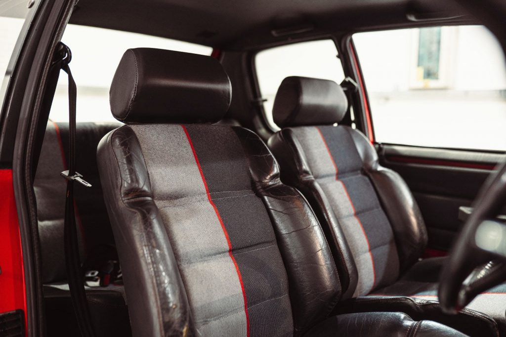Seat bolsters are an easy repair for Peugeot 205 GTI