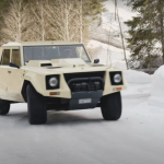 Lamborghini LM002 on ice