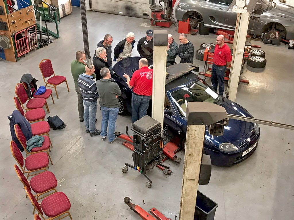 MG Owners' Club has a workshop and courses