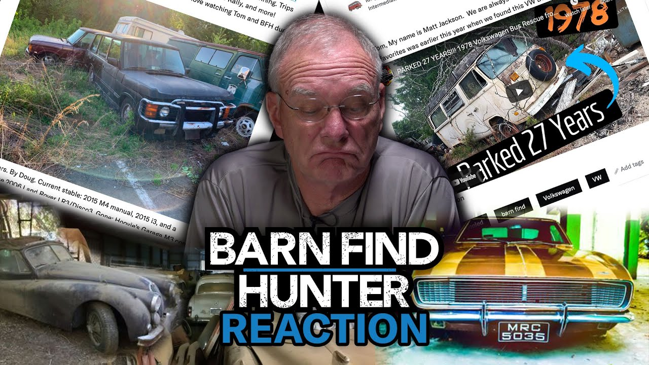 Watch Tom Cotter react to your barn finds | Barn Find Hunter