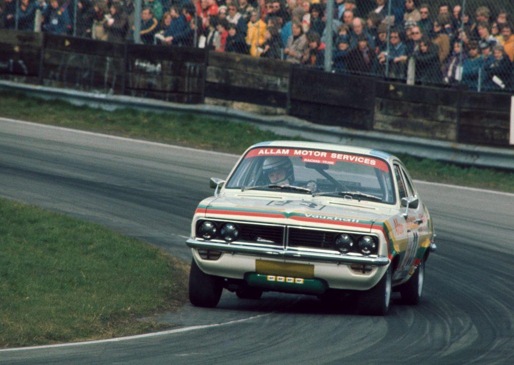 Jeff Allam in his Vauxhall Firenza Magnum