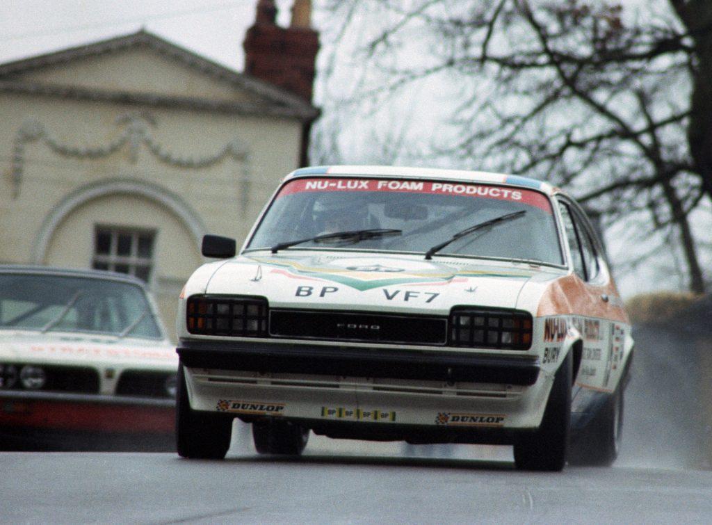 Jeff Allam drifts his Ford Capri in 1978