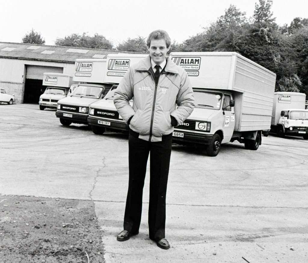 Jeff Allam with the van hire business he ran
