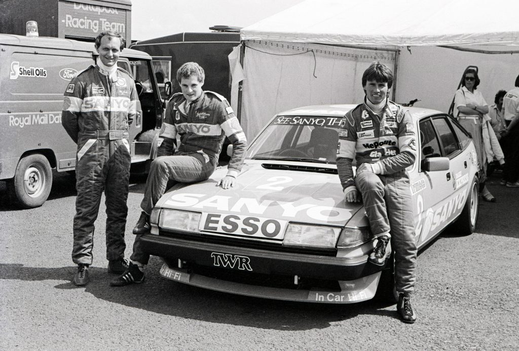 Jeff Allam with Steve Soper and Pete Lovett and TWR Rover SD1 Vitesse touring car