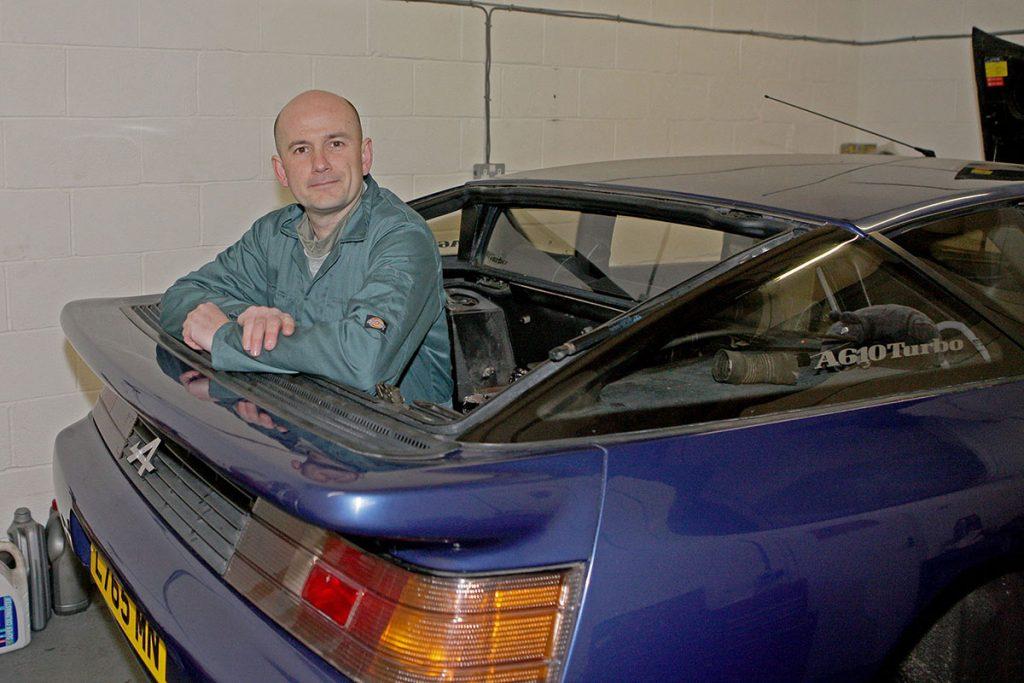 Richard Dredge with his Alpine A610