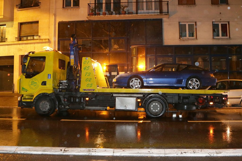 Alpine A610 on recovery truck