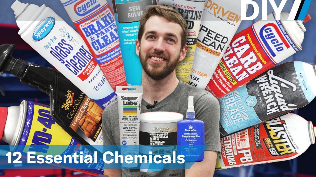 12 essential automotive chemicals for your garage | DIY