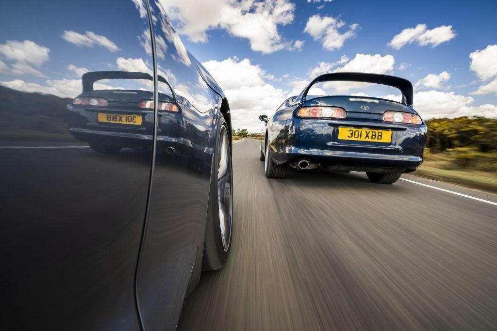 Toyota Supra A80 and A90