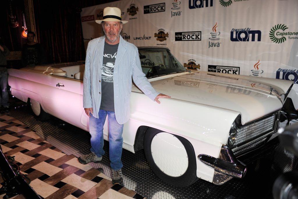 Neil Young with his LincVolt