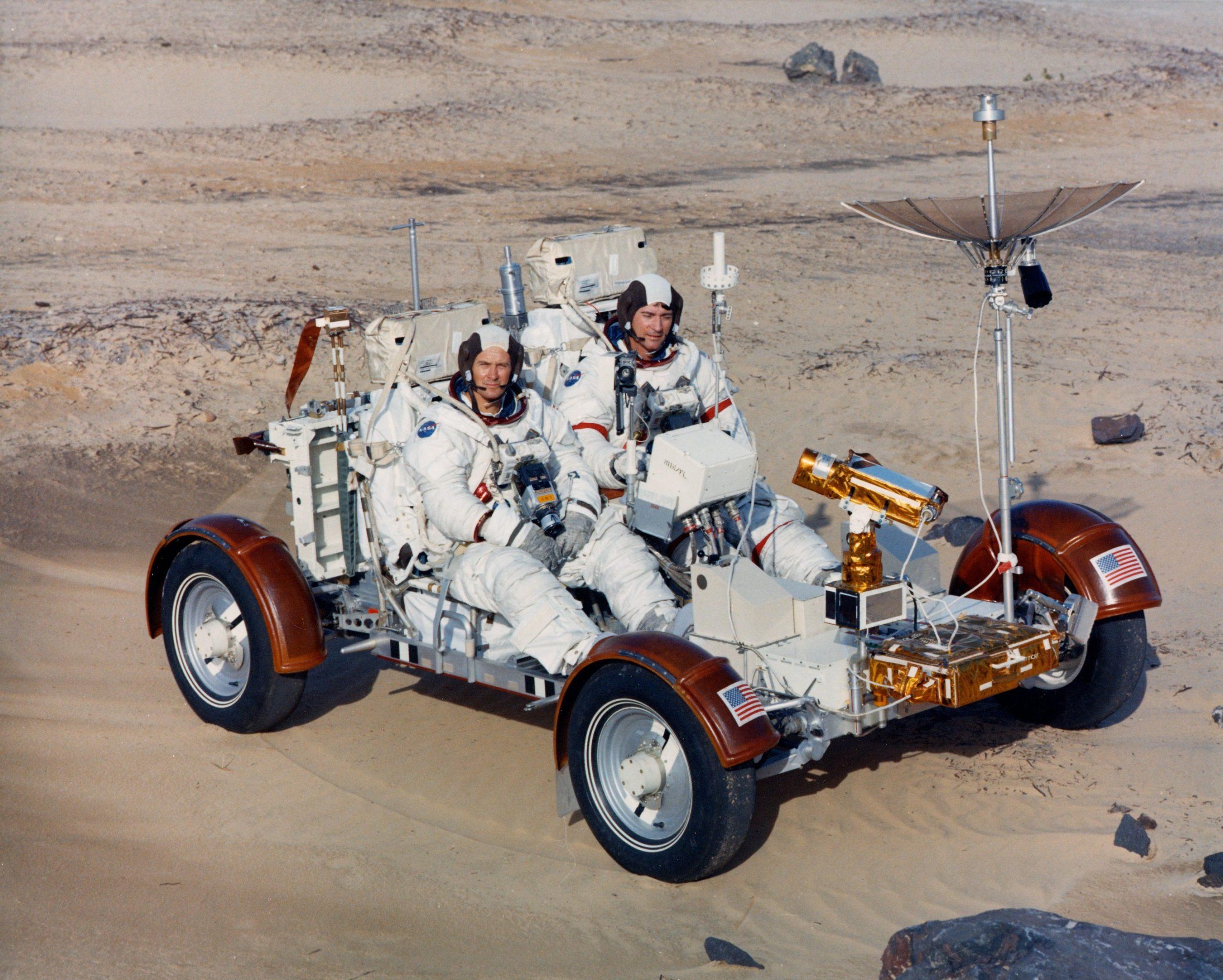 Apollo 16 Lunar Rover training