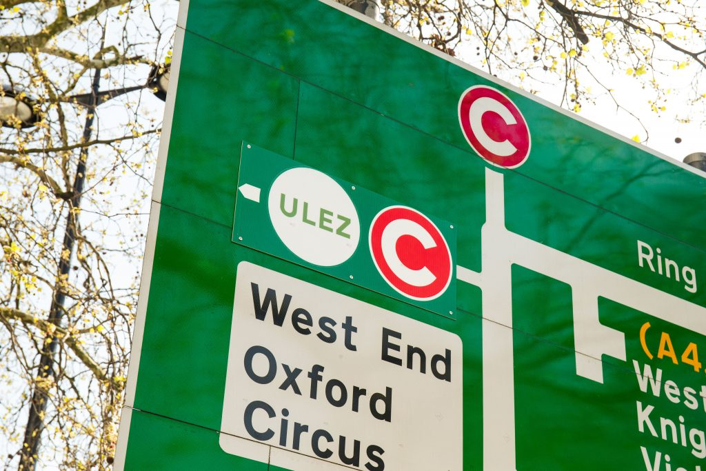 ULEZ central zone sign