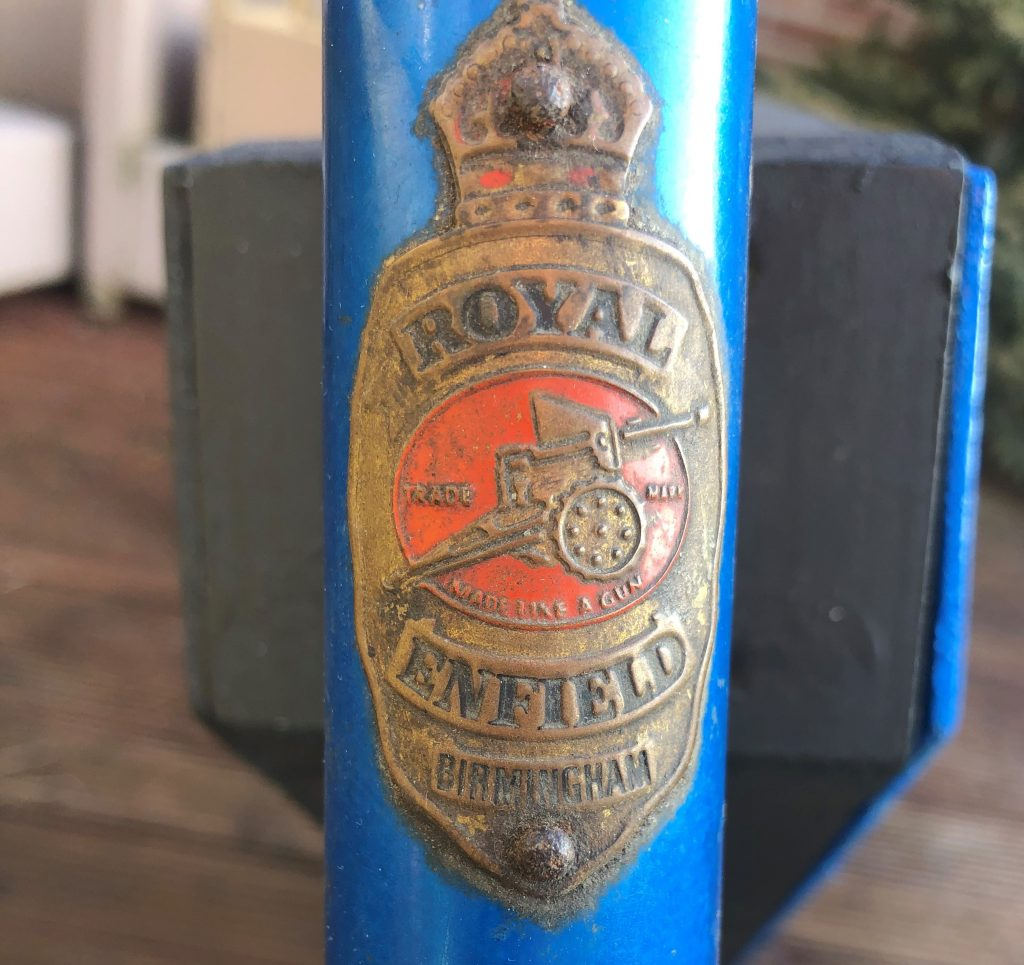 Royal Enfield pushbike which rolled out of Brum in '72
