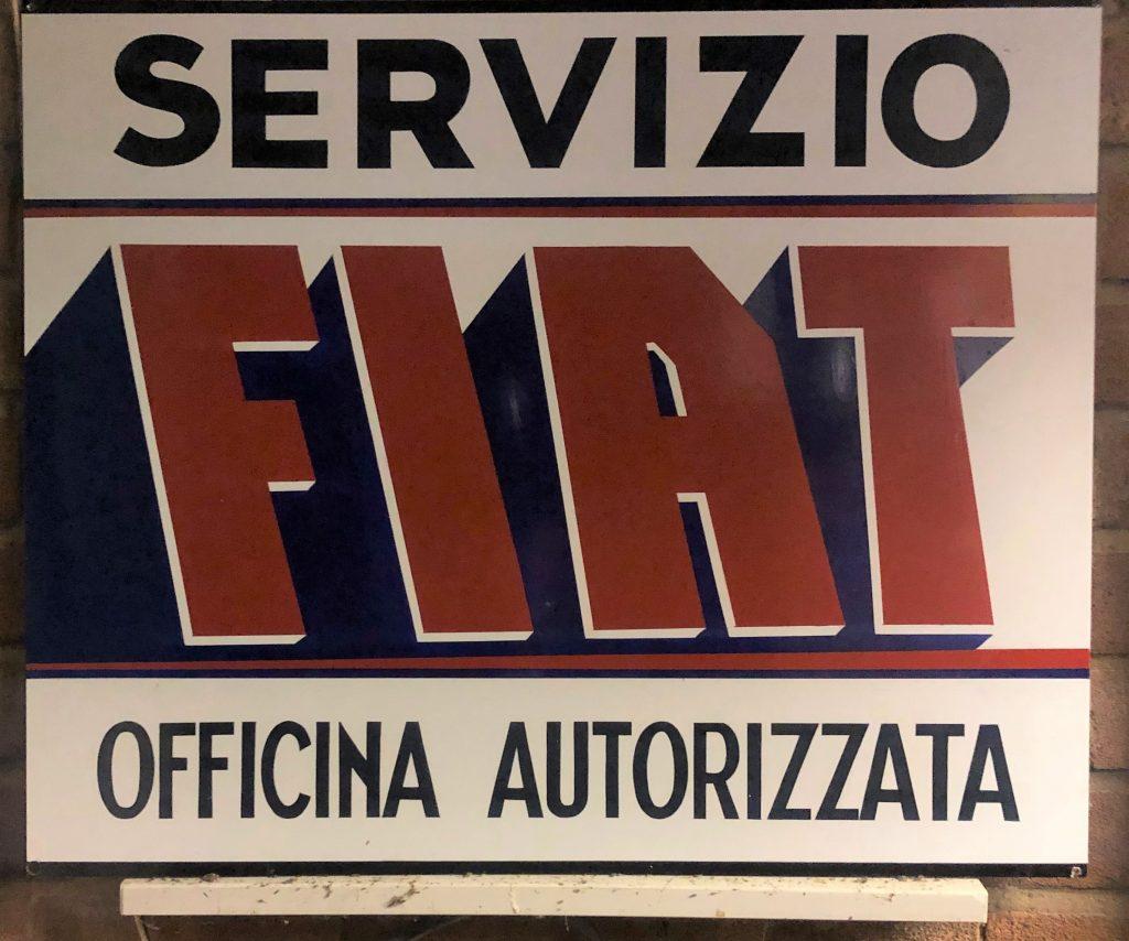 Rich Duisberg's 1972 Fiat sign