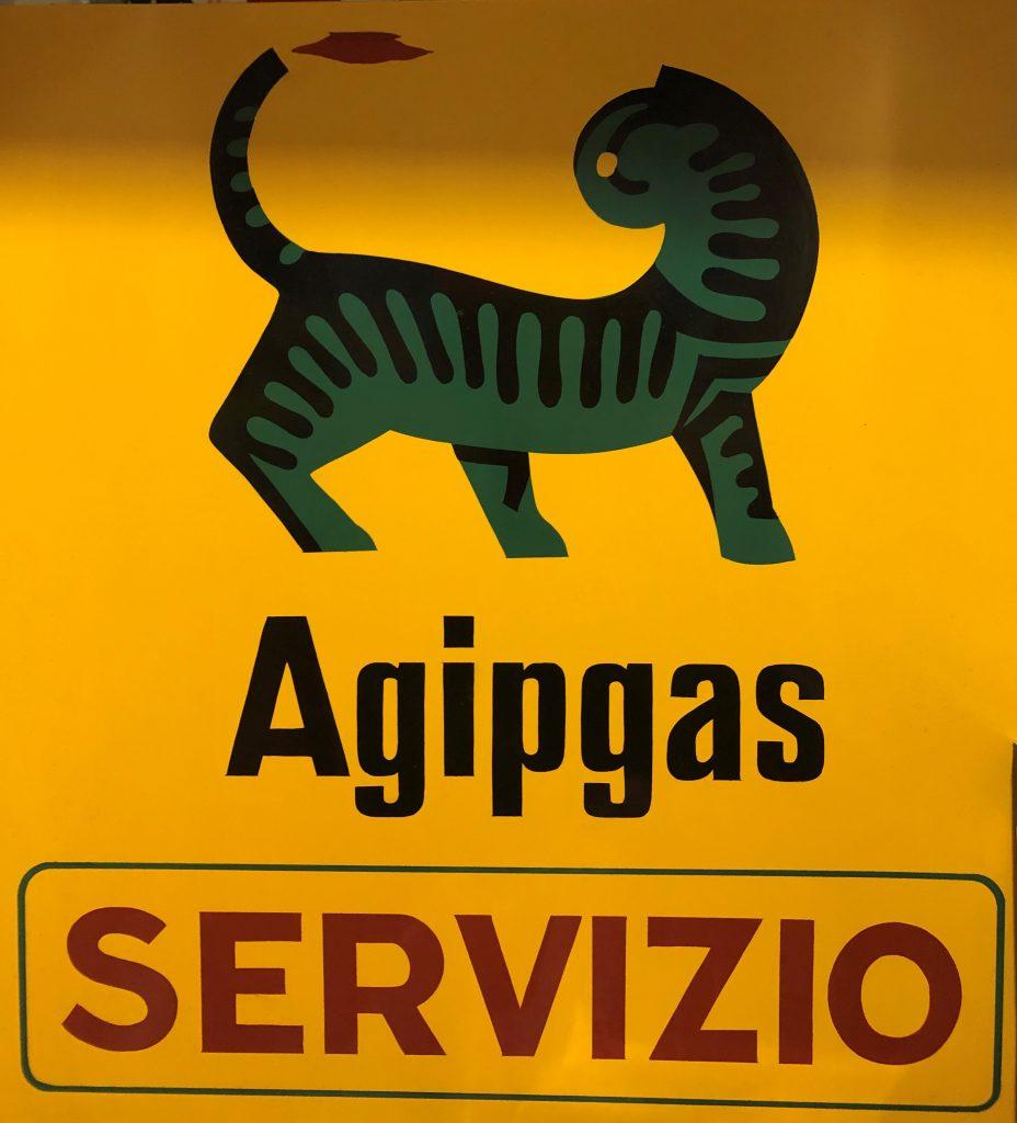 Agipgas sign 1972 Rich Duisberg