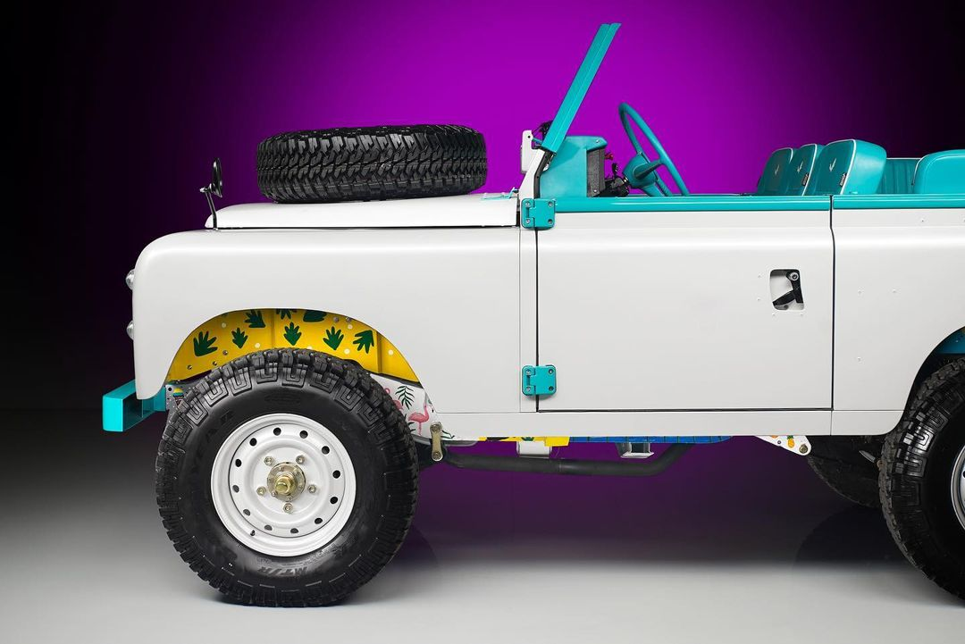 Solihull to Miami via Munich: Custom Land Rover is ready for the beach
