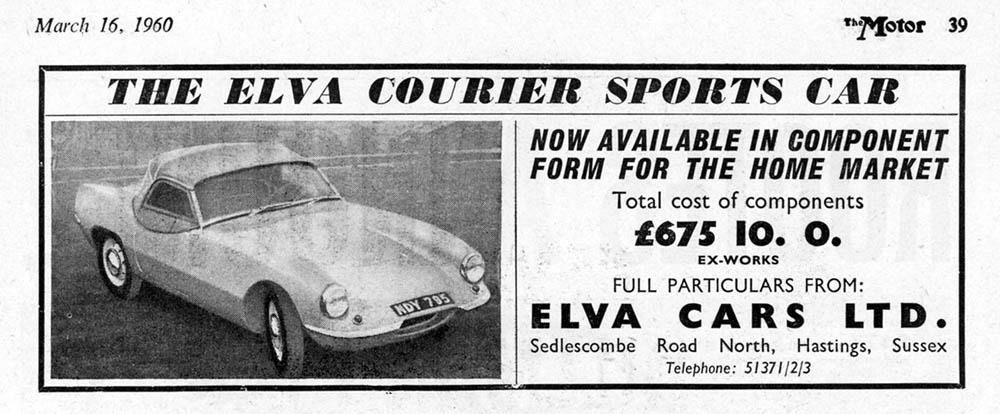 Elva Courier 1960 advert
