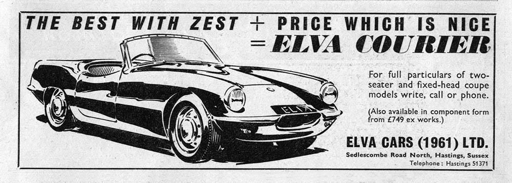 Elva Courier 1961 advert