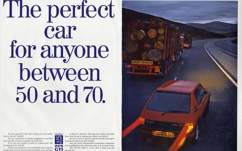 Peugeot 205 GTi advert