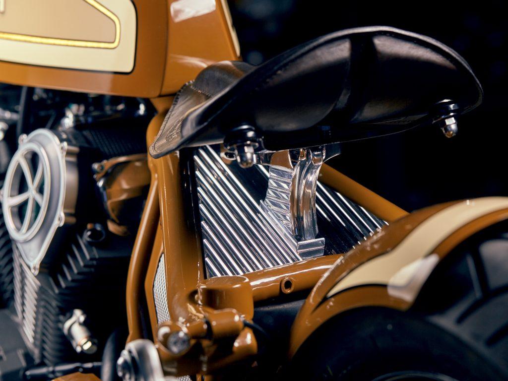 Saddle of Custom bike built by Anthony Partridge