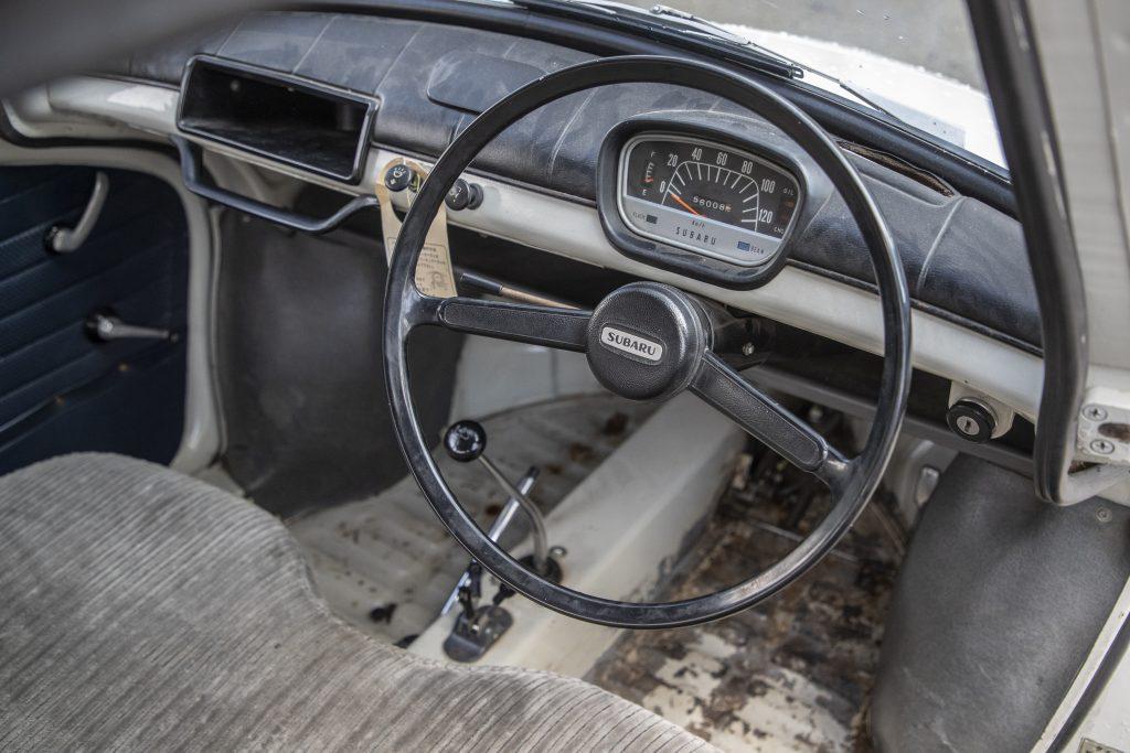 Interior of the 1968 Subaru 360