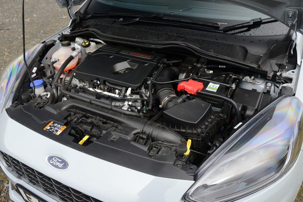 Three-cylinder turbo engine in Fiesta ST