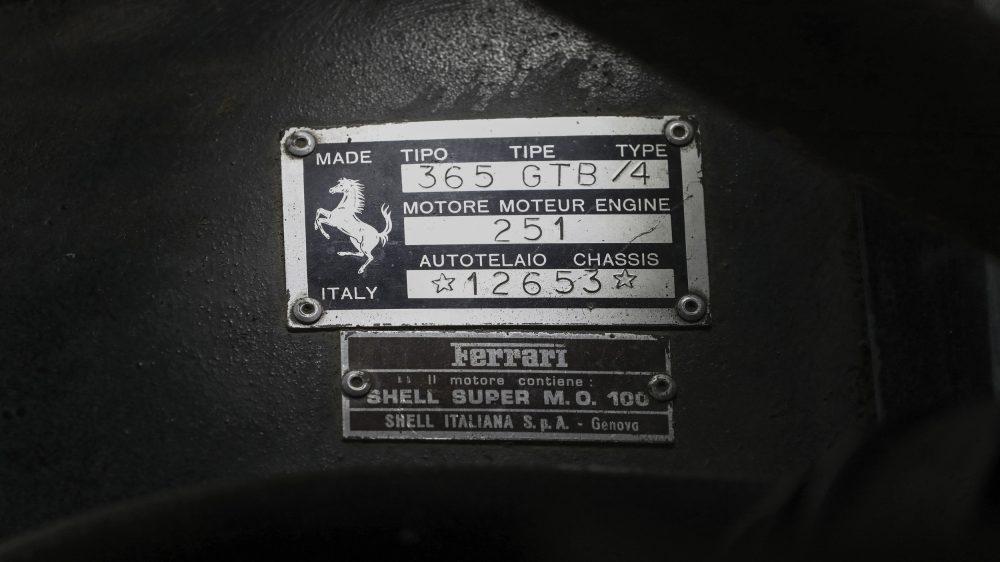 Ferrari Daytona alloy body chassis plate