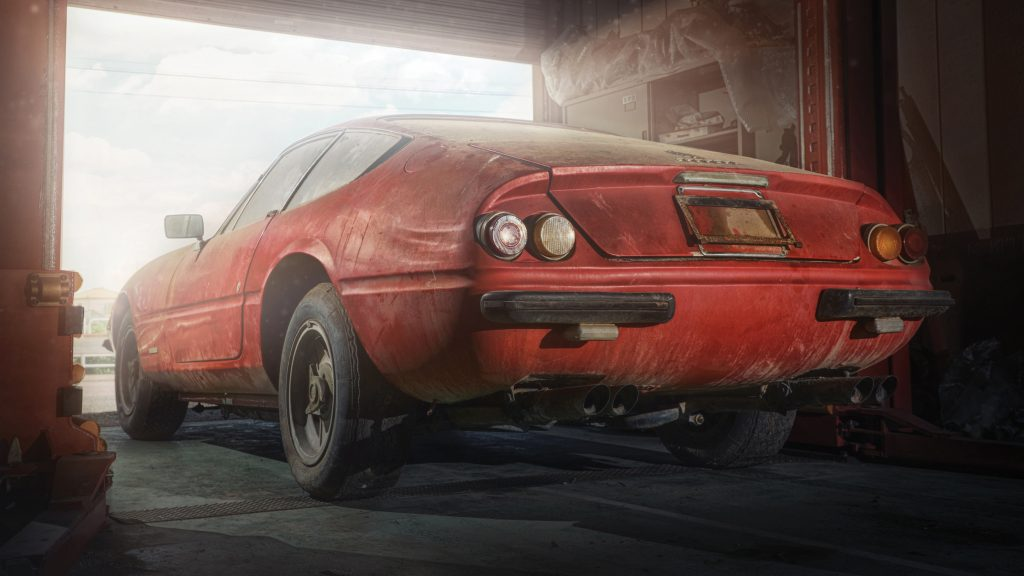Ferrari Daytona alloy body barn find