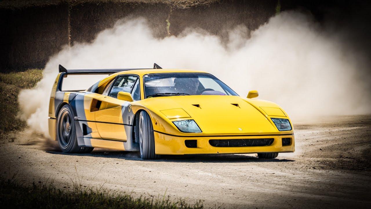 Watch the legendary Ferrari F40 drift in the dirt