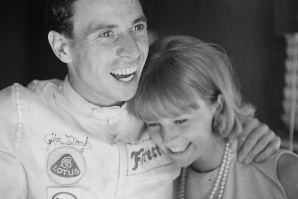 Jim Clark and Sally Stoke, 1965 Indy 500