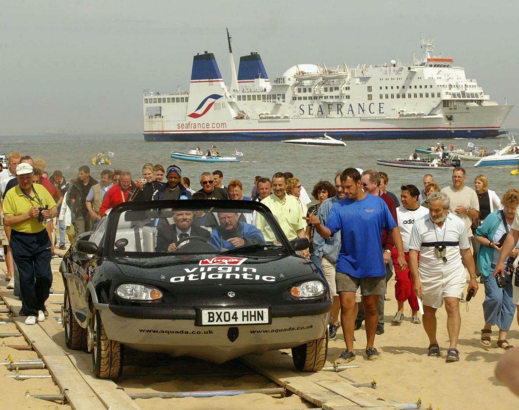 Richard Branson Gibbs Aquada amphibious car